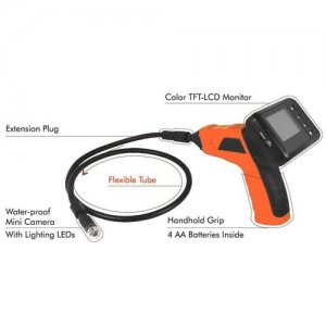 Mini Water Proof Inspection Camera with Color LCD Monitor